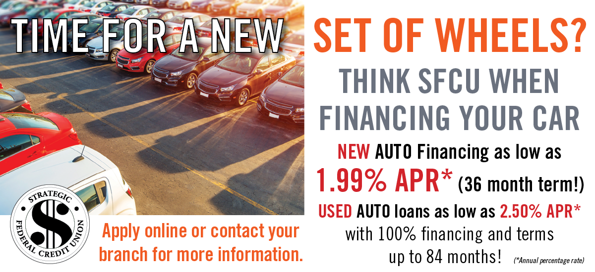Thinking of a New Set of Wheels? Auto Financing as low as 1.99% APR