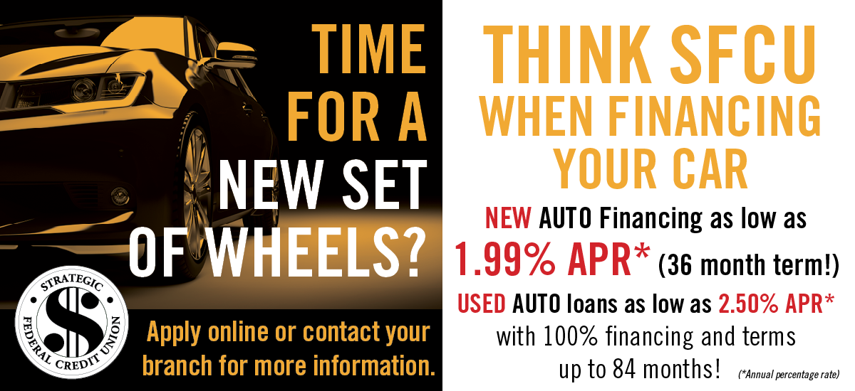 Time For a New Set of Wheels? Auto Financing as low as 1.99% APR